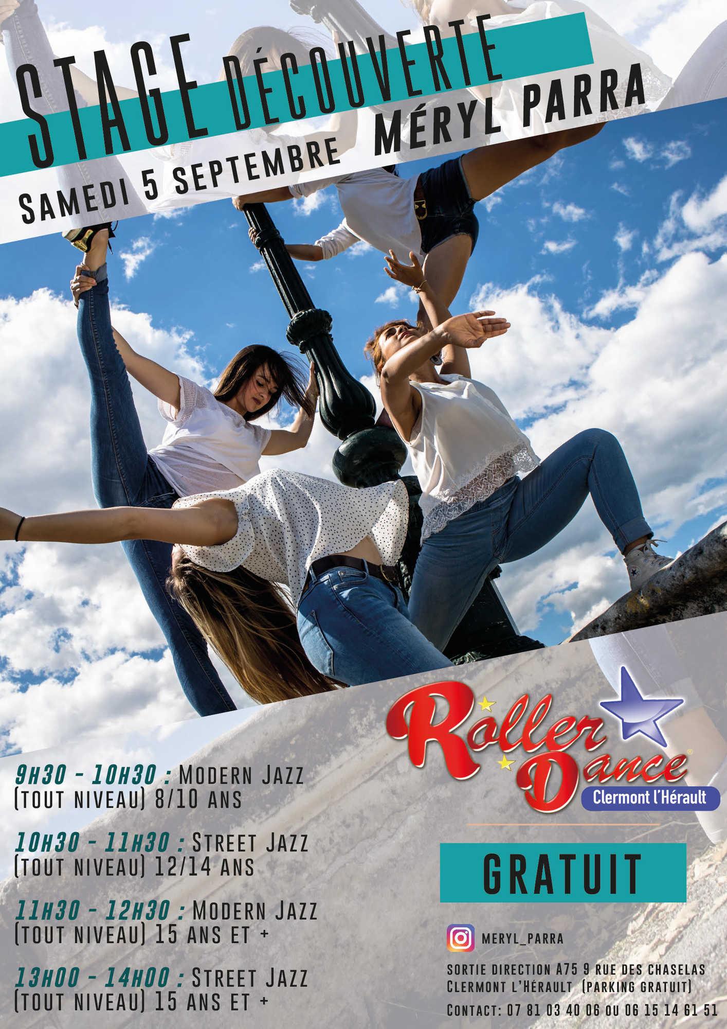 Roller Dance stage decouverte modern jazz street jazz septembre 2020